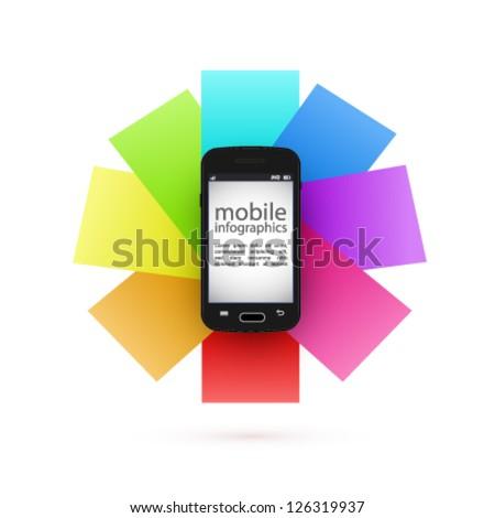 vector mobile infographics - stock vector
