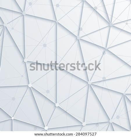 Vector modern abstract polygonal space background. Eps10 - stock vector