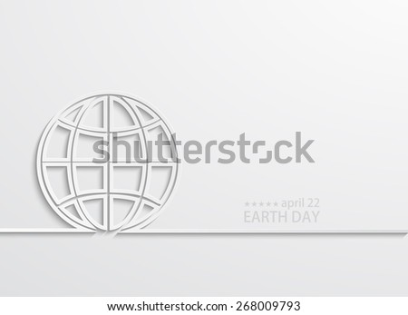 Vector modern april 22 earth day background. Eps10 - stock vector