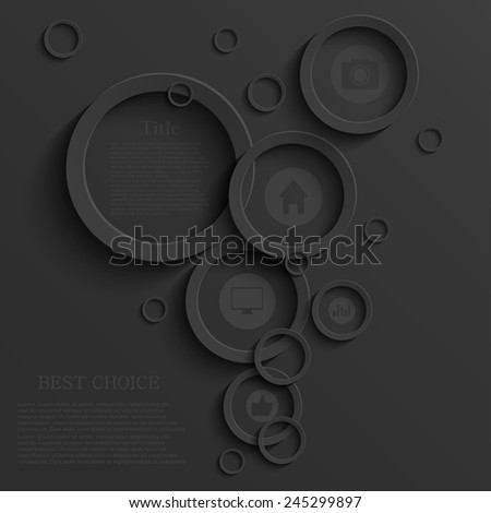 Vector modern black infographic background. Business template - stock vector