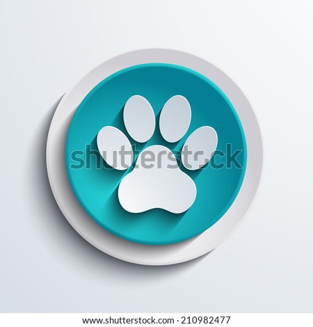 vector modern blue foot circle icon. Web element design - stock vector