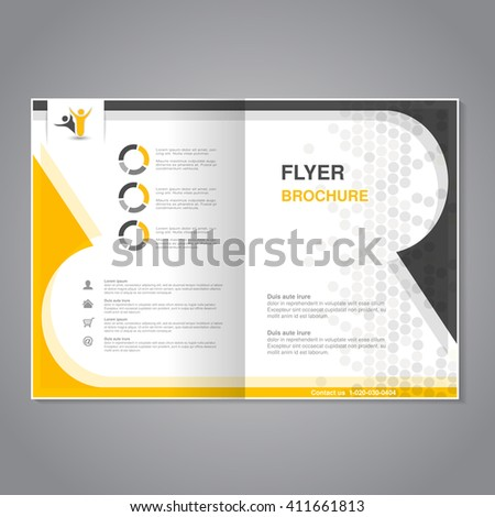 Vector modern brochure, abstract flyer with simple dotted design. - stock vector