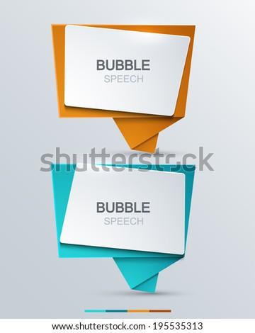 Vector modern bubble speech icons set. Business development - stock vector