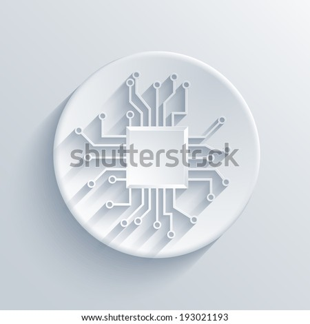 Vector modern circuit board icon. Eps 10 - stock vector