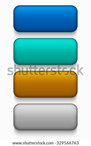 Vector modern colorful web buttons set on white background - stock vector