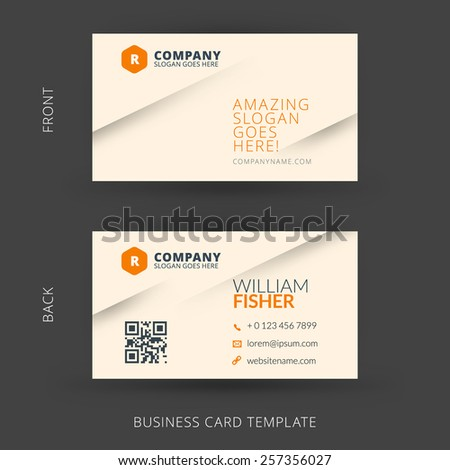 Vector modern creative and clean business card template. Flat design - stock vector