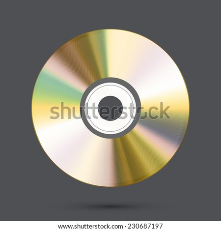 Vector modern disc on gray background. Eps10 - stock vector