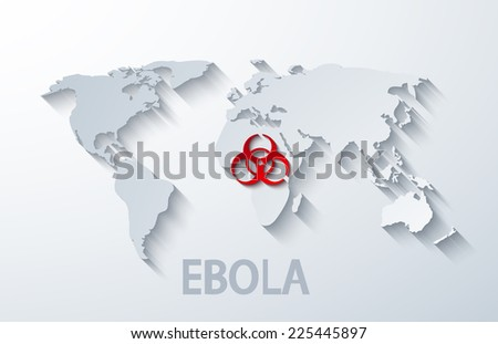 vector modern ebola elemenr design. dangerous virus - stock vector