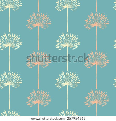vector modern floral seamless pattern. This pattern can be used for wrapping paper, wallpaper, cover, textile design, fabric design. - stock vector
