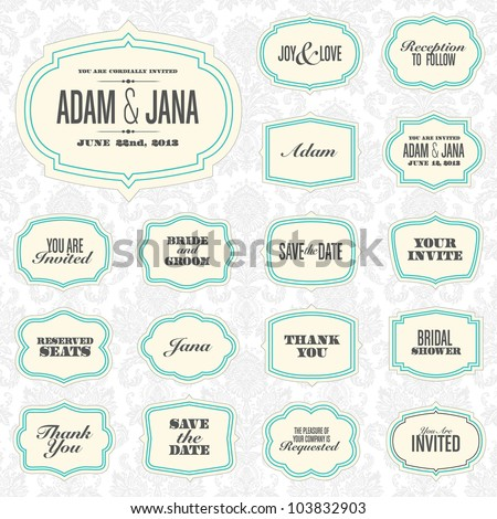 Vector Modern Frame Set. Easy to edit. Perfect for invitations or announcements. - stock vector