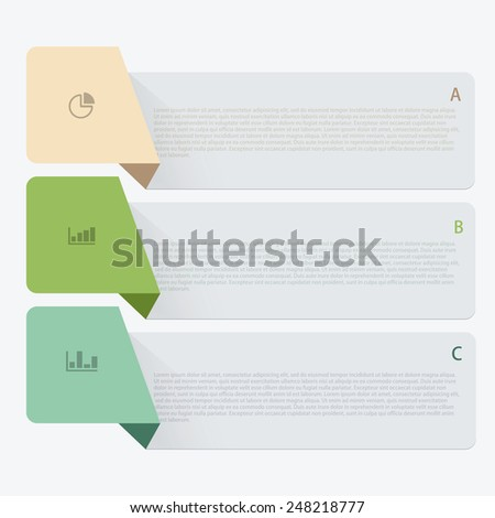 Vector modern infographic background. Business development template - stock vector