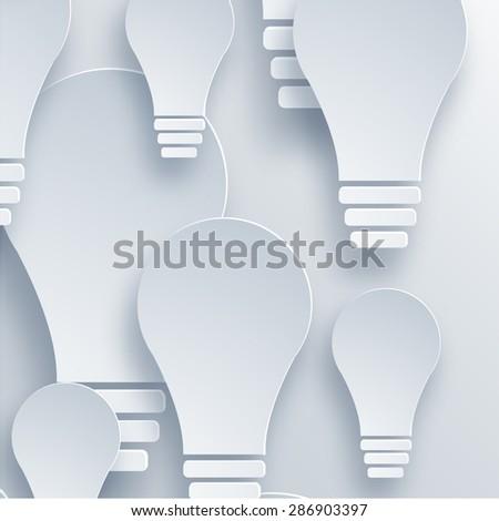 Vector modern light bulb background. Idea design - stock vector