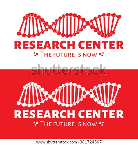 Vector modern minimalistic research center logo design. Science logotype - stock vector