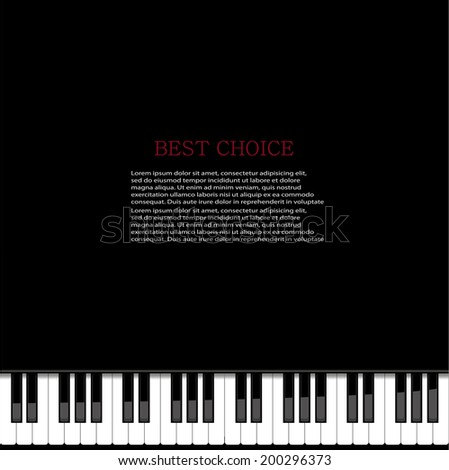 Vector modern piano background. Eps 10 illustration - stock vector