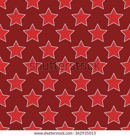 Vector modern red  23 february seamless pattern background - stock vector