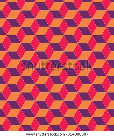 Vector modern seamless colorful pattern geometry illusion  , colored background blue orange yellow,textile print, abstract texture,  fashion design, bed sheets or pillow futuristic pattern - stock vector