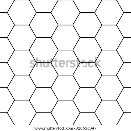 Vector modern seamless geometry pattern hexagon, black and white abstract geometric background, trendy print, monochrome retro texture, hipster fashion design - stock vector