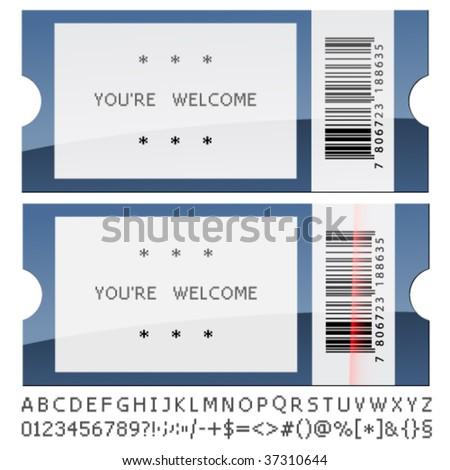vector modern shiny tickets - stock vector