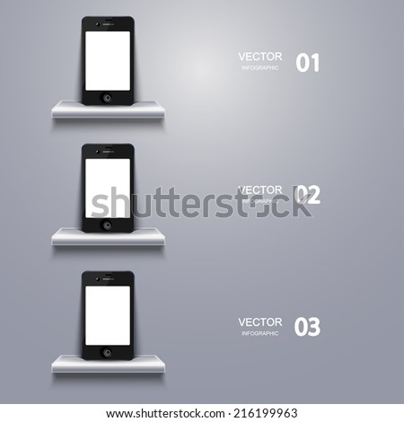 vector modern smartphone infographic. Business background. Eps10 - stock vector