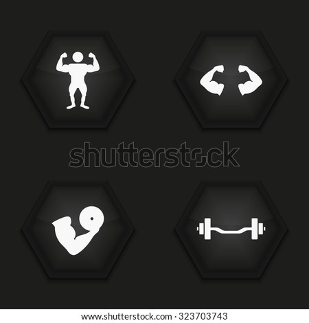 Vector modern sport  icons set on background - stock vector