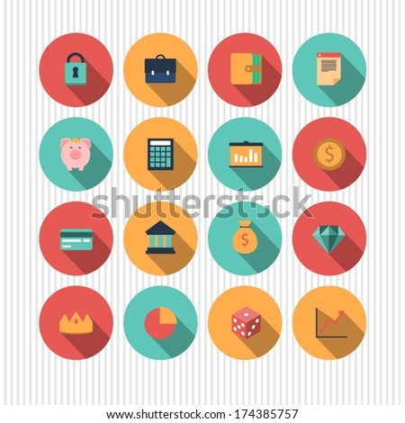 vector money and finance icons - stock vector