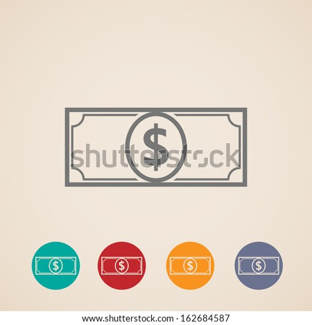 vector money icons - stock vector