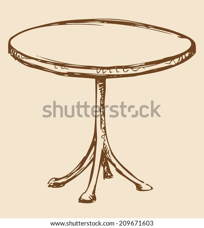 round table drawing small round table stock photos images pictures 6888