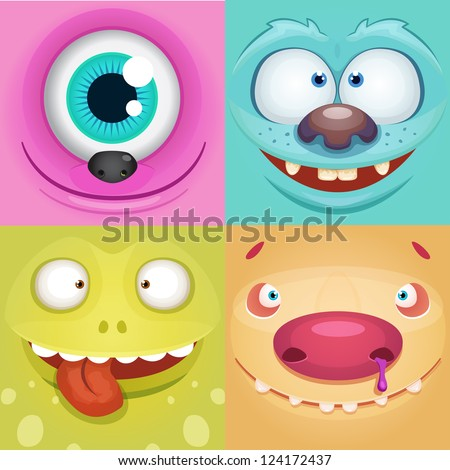 Vector Monsters - stock vector