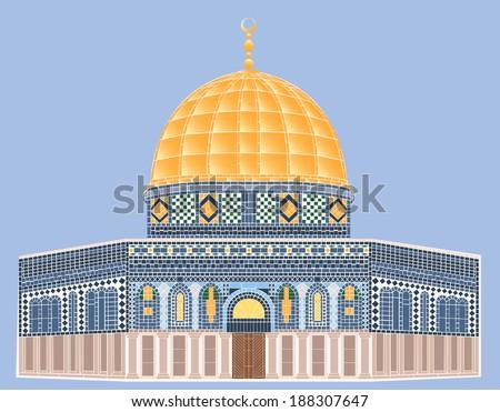 Vector Mosaic  Al-Aqsa Mosque - stock vector