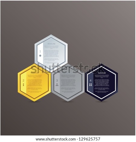 Vector mosaic template. Colorful polygons with space for your text. Simple puzzle, can be composed to many different shapes. - stock vector