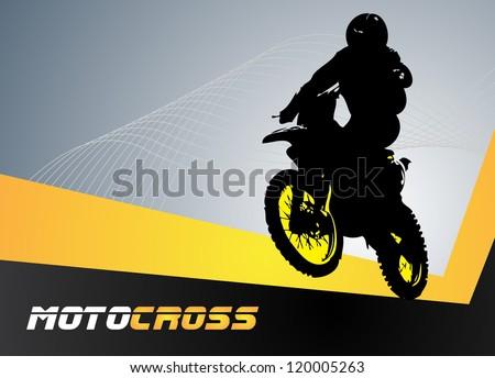 Vector motocross. Clip-art - stock vector