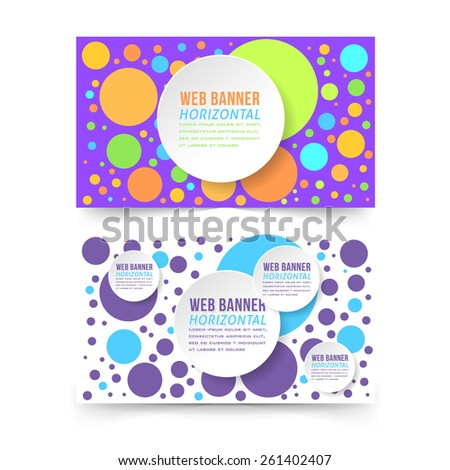Vector Multicolor Flat Web Banner Template - stock vector