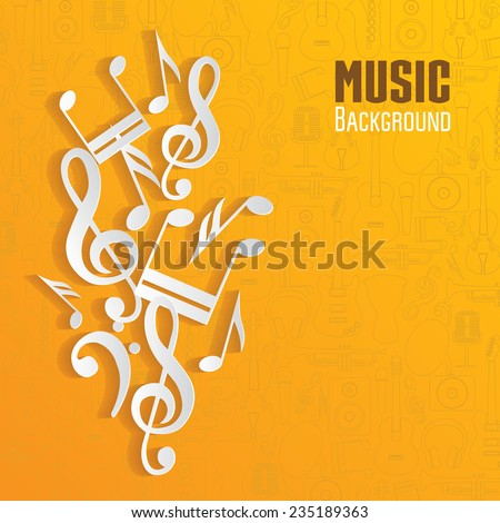 Vector music background. - stock vector