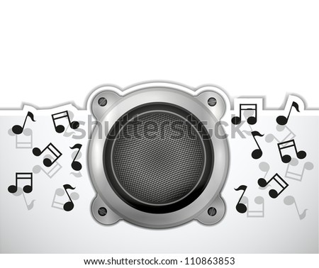 Vector music background with place for your text. Eps 10 - stock vector