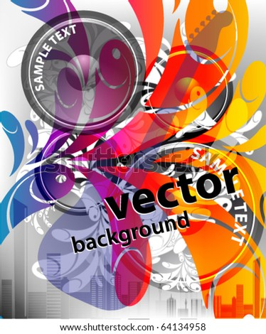 VECTOR Music Event Background - stock vector