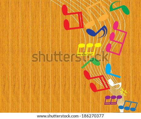 vector music note background - stock vector