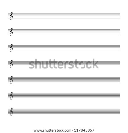 Vector music notes. - stock vector