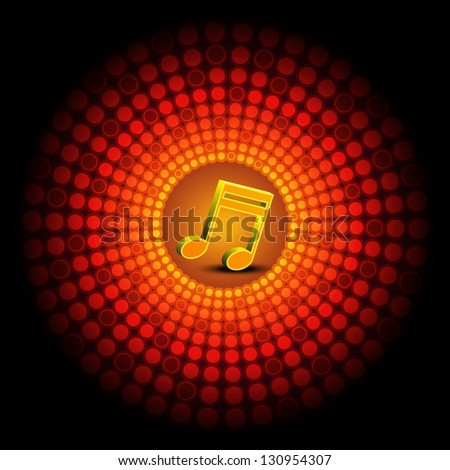 vector music party festival background design - stock vector