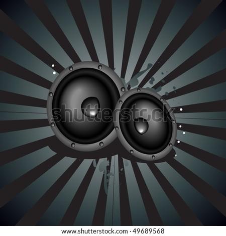 vector music speaker background - stock vector
