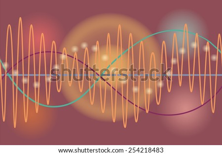 Vector music volume abstract background - stock vector