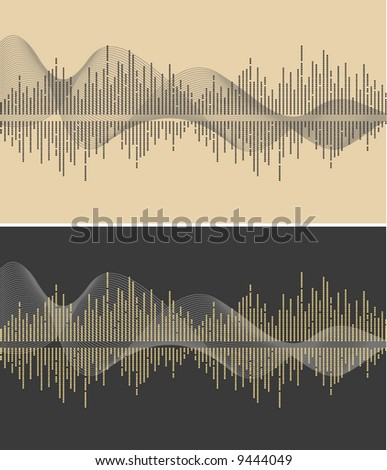 vector music wave- vector - stock vector