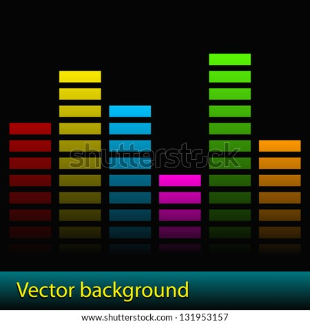 vector musical background - stock vector