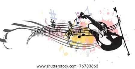 Vector musical composition - stock vector