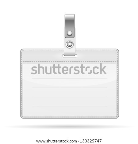 Vector Name Tag Isolated on white background - stock vector