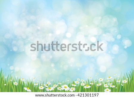 Vector nature background. - stock vector