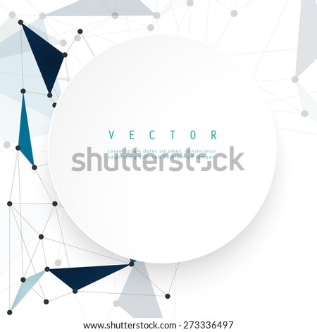 Vector network background abstract polygon triangle. polygonal design geometrical - stock vector
