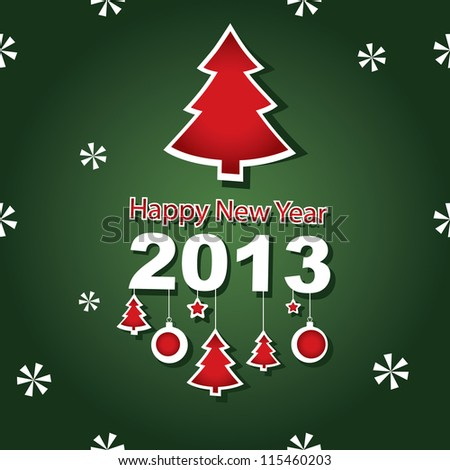 Vector 2013 New Year banner - stock vector