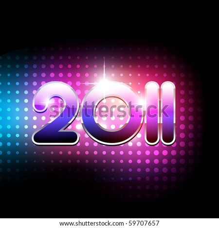 vector new year 2011 beautiful design - stock vector
