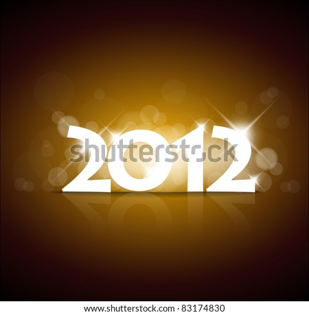 Vector New Year card 2012 with back light and place for your text - stock vector