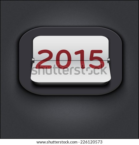 vector 2015 new year vintage analog calendar countdown with flip sheets - stock vector
